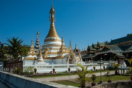 Wat Jong Klang temple, Mae Hong Son City, Northern Thailand photo