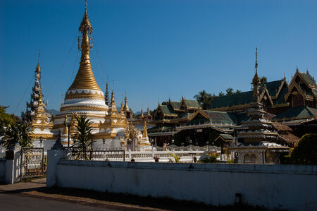 Wat Jong Klang Wat Jong Kham temple, Mae Hong Son City, Northern Thailand photo