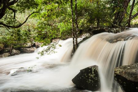 phukradueng: Flowing stream at waterfall, Phukradueng, Thailand
