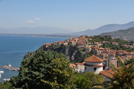 Hi-res - Historic Old Town of Agropoli, Italy Stock Photo