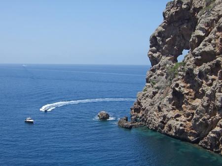 Sa Foradada peninsula, Majorca, with famous pierced rock Stock Photo - 18648570