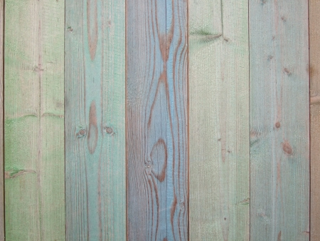 Multicolored Wooden Fence photo