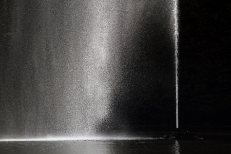 Fountain against dark background