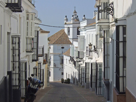 Typical Street in Medina Sidonia, Andalusia, Spain. Medina Sidonia is one of the famous
