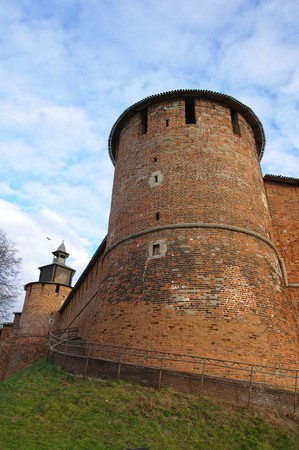 The south-west tower of the kremlin in Nizhny Novgorod, Russia