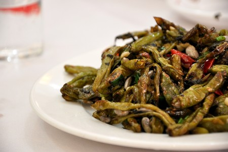 Stir Fried Green Beans with Garlic served at a restaurant in Beijing, China