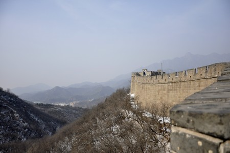 Skyline at the Great Wall at Badaling near Beijing, China