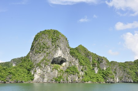 View of Hill at Halong Bay