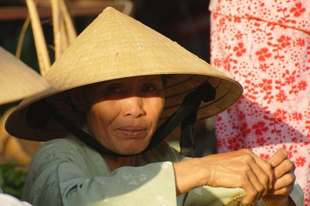 Unidentified woman takes a rest at the market on July 12, 2010 in Hoi An, Vietnam.