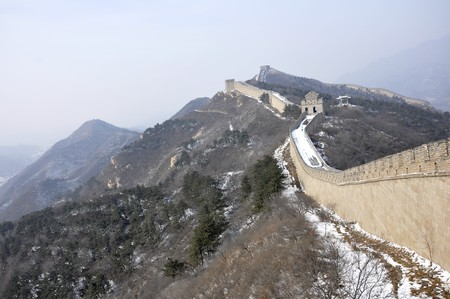The Great Wall at Badaling near Beijing, China Stock Photo