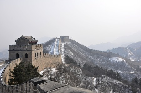 Watchtower on the Great Wall at Badaling near Beijing, China photo