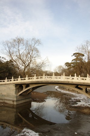 A stone bridge close to Beijing in China photo