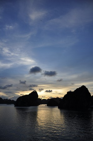 Fantastic view of the Halong Bay Stock Photo - 8139817