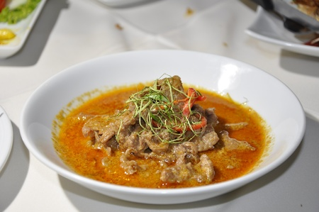 Beef and Chili in Red Curry Sauce at a Restaurant in Chaweng, Koh Samui, Thailand Stock Photo - 10035595
