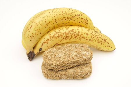 bannana: Bannanas & wheat biscuits