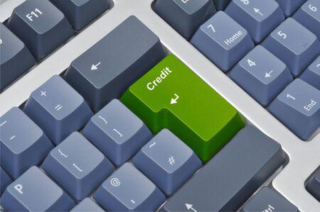 Keyboard credit Stock Photo - 5480012