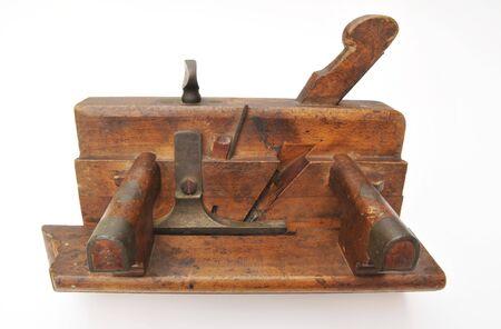 moulding: Old Wooden moulding plane