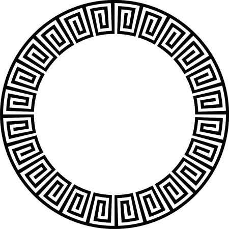 Ancient circular design  Vector
