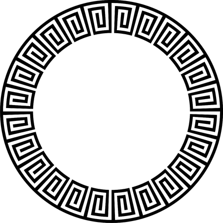 aztec: Ancient circular design  Illustration