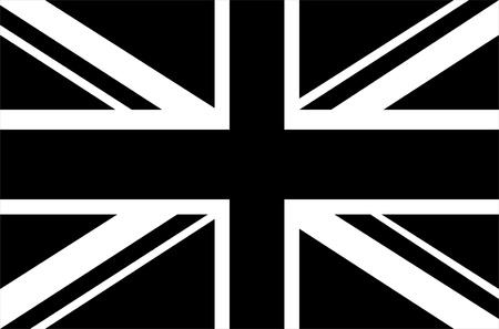 union flag: Black & white Union Jack flag Stock Photo