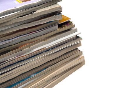 magazine stack: Recycle old journals & magazines Stock Photo