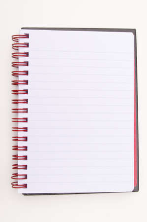 Blank spiral lined note book Stock Photo - 9544017