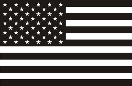 zwart wit tekening: Zwart en wit Amerikaanse vlag