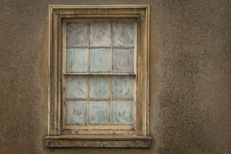 obscured: Old Sash Window with glass obscured out