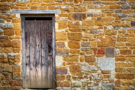 weathered: Old weathered wooden door
