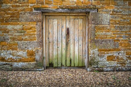 grubby: Old rotting weathered doors