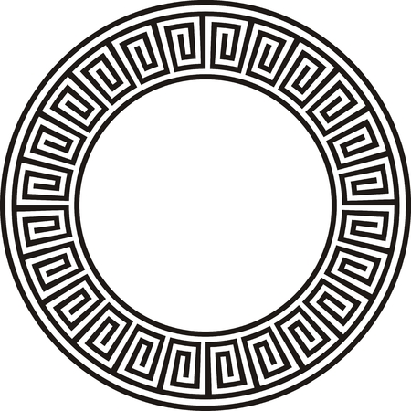 griping: Ancient circular Aztec design in black and white
