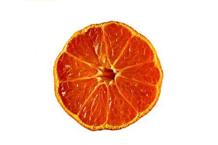 juicy: Orange cut in half showing juicy segments Stock Photo