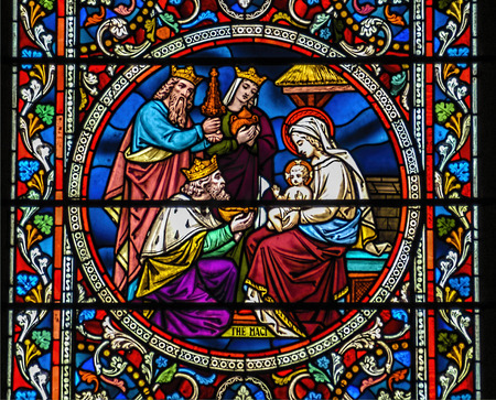 Baby Jesus with Mary and the three wise kings