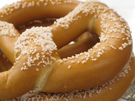 pretzels: Close-up of salt pretzels shot in natural light Stock Photo