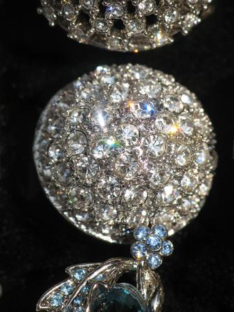 diamond necklace: Diamond looking rhinestone necklace Stock Photo
