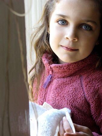 beauty shot: little girl beauty shot  Stock Photo