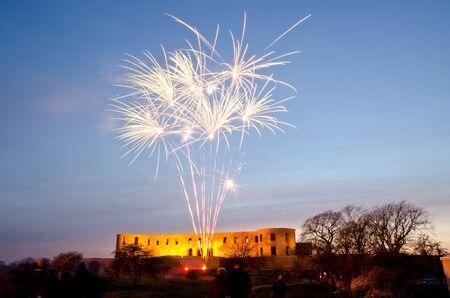 Fireworks celebrating springtime