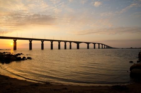Sunrise at bridge photo