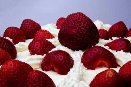Close up of strawberry cake Stock Photo - 14191692