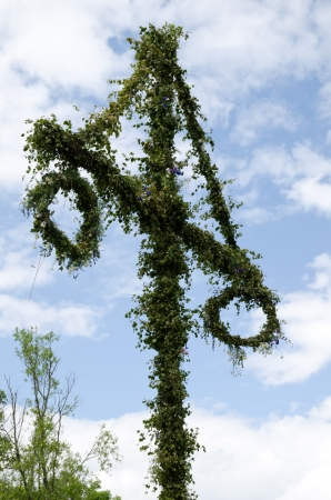 Swedish midsummer pole