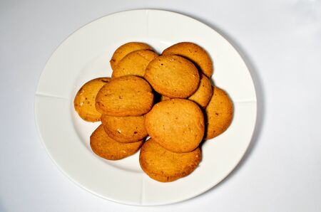 Plate with almond cookies Stock Photo - 16899006
