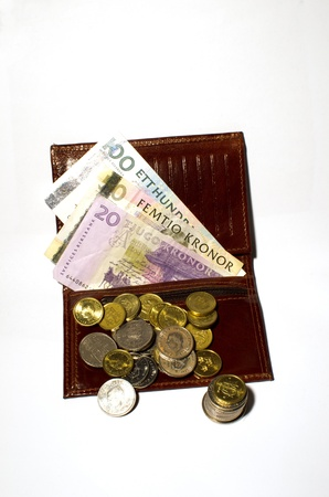Wallet with money photo