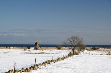 Windmill at coast Stock Photo - 17330576