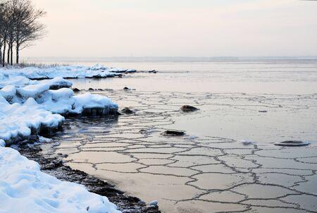 New ice at coast Stock Photo - 17443039