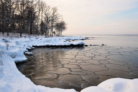 Frozen shore Stock Photo - 17443059