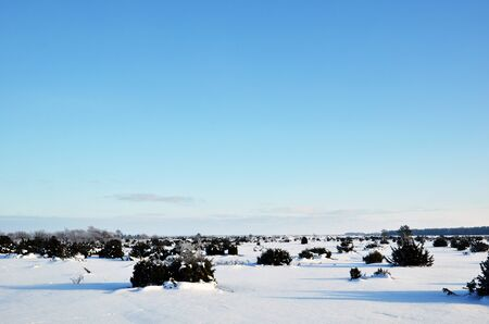 great plains: Winter view Stock Photo