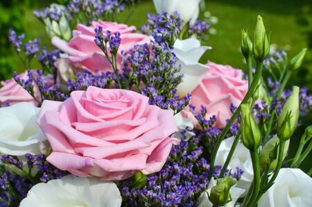 Closeup of a bouquet of pink roses Stock Photo - 20724542