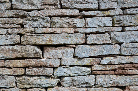 Background of old weathered brick wall photo