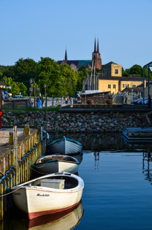 View from the harbour in Roskilde, Denmark Stock Photo - 21008316