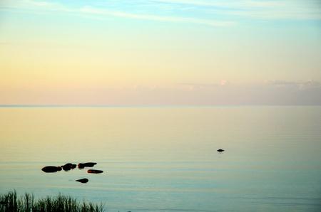 oland: Calm coastline a summer evening at the island Oland in Sweden